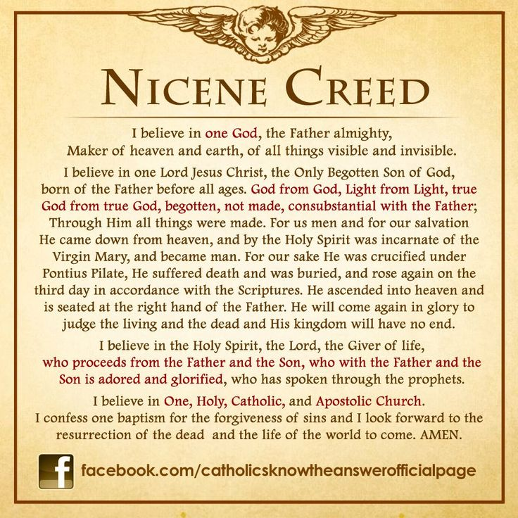Image result for the nicene creed catholic