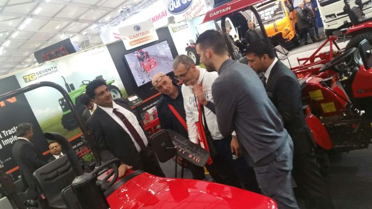 Winning Hearts of Visitors,  Captain proved to be best Tractor in International Exhibition 'EIMA' at Bologna - Italy.  Attaining maximum Foot prints, Captain Tractors defined its unique Identity among MINI TRACTORS in the World.
