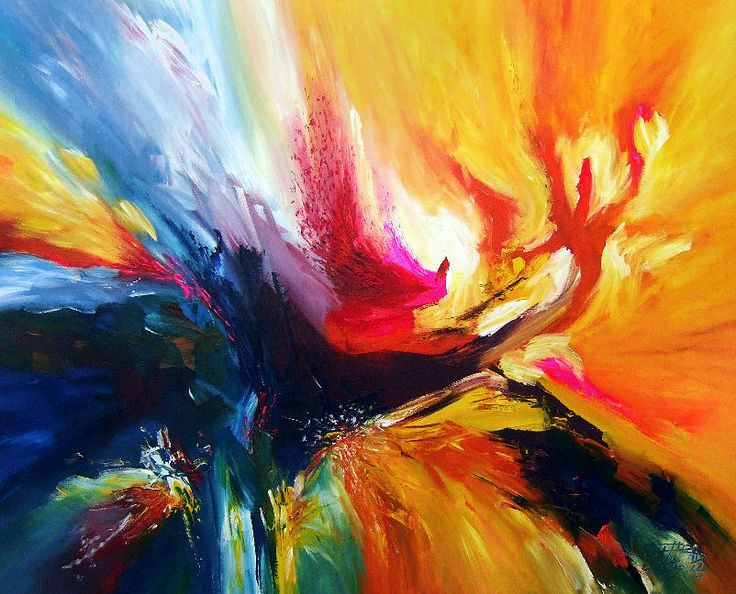 Colorful Abstract Painting By
