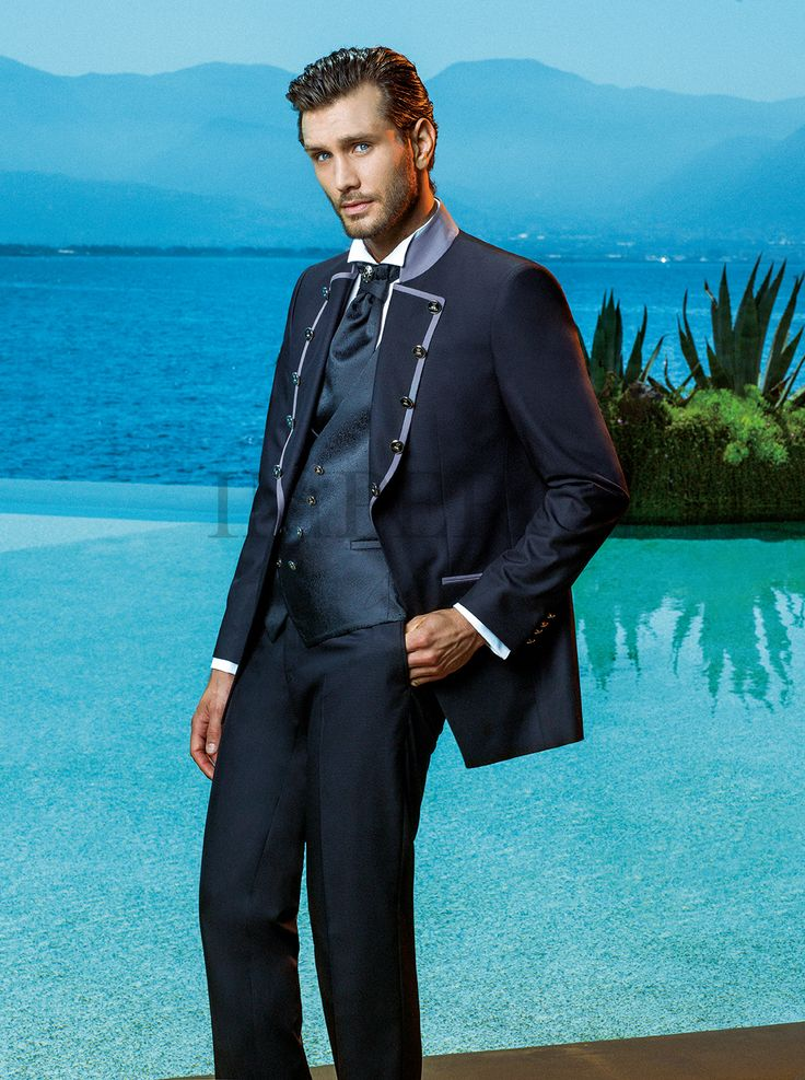 BA 50082-17 #sposo #groom #suit #abito #wedding #matrimonio #nozze #nero #black #gray #grigio