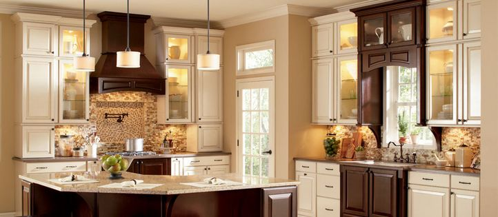 Home Depot Kitchen Remodeling Glass Front Cabinets Woodmark Cabinetry Collection: Charlottesville | Species ...