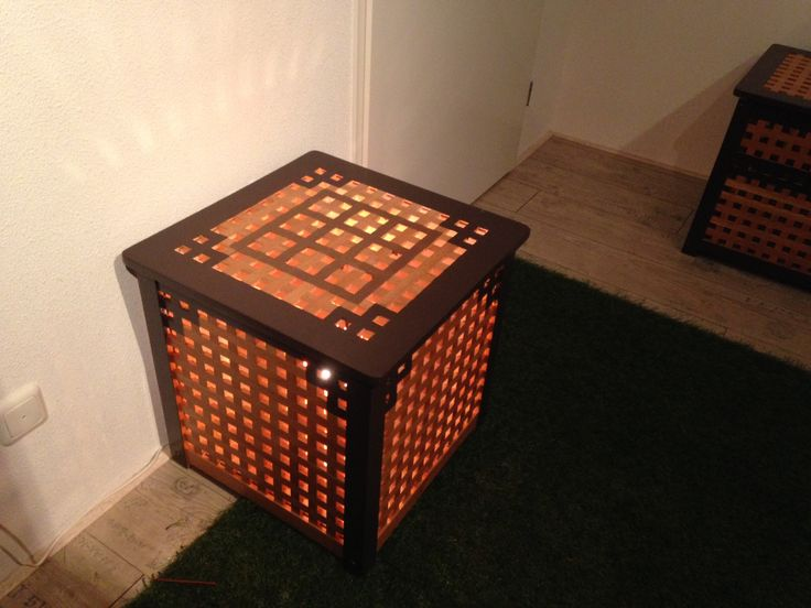 Create your own minecraft crafting table is quite simple. you buy at Ikea one HOL chest. Paint with brown paint the lines of minecraft table and voila you have a DIY minecraft crafting table. We also put A light in de chest en dan at night its A bedlightstand. #ikeahack