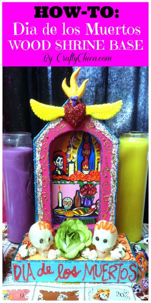 Dia de los Muertos wood shrine/altar diy by @Kathy Cano-Murillo