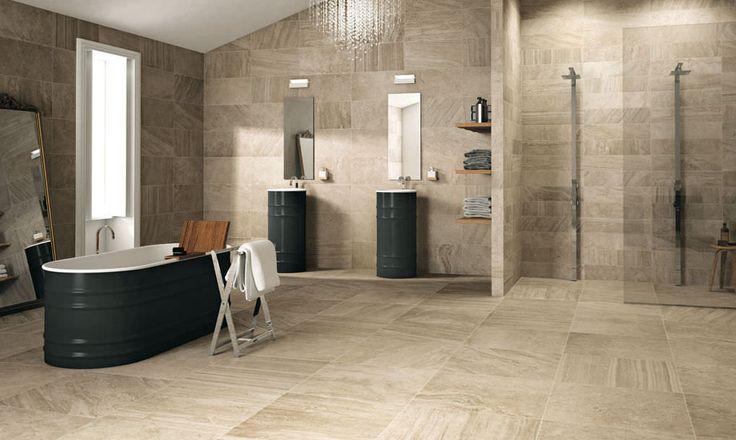 Triboo tiles - Classic Ceramics www.classicceramics.com.au #stone #tile #bathroom #porcelain #beige #grey #natural