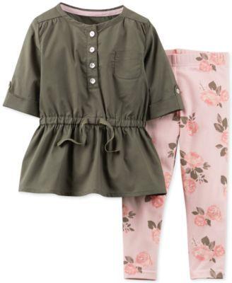 Carter's Baby Girls' 2-Piece Tunic & Pants Set - Kids - Macy's