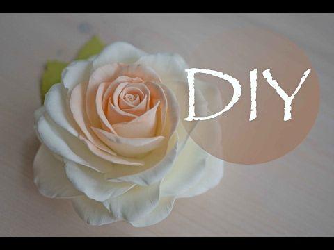 Реалистичная роза из фоамирана , цветы из фома - YouTube