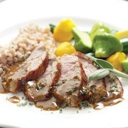 Mustard-Maple Pork Tenderloin - EatingWell.com * could sub out maple syrup with juice of an orange