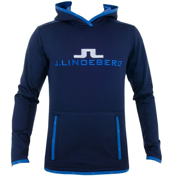 J Lindeberg Logo Hood Technical Jersey Navy Purple #golf #fashion #trendygolf #jlindeberg