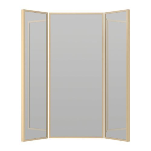 8 best images about tri fold mirrors on pinterest floor for Miroir ikea stave