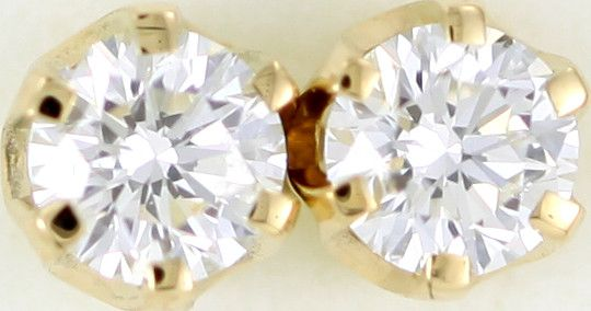 Australian 9ct  Gold Classic Diamond Earrings .50 ct  JAO 38  classic diamond earrings in 9k yellowgold