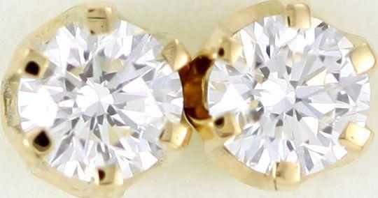 Australian 9ct  Gold Classic Diamond Earrings .50 ct  JAO 38  classic diamond earrings in 9k yellowgold
