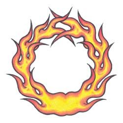 Flames Belly Ring Temporary Tattoo Design By Custom Tags
