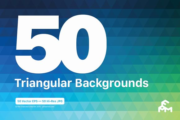 Check out 50 Triangular Backgrounds by MARTINI Type Designer on Creative Market