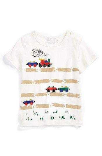 Burberry T-Shirt (Toddler Boys) available at #Nordstrom Because Nicky loves his choo choos