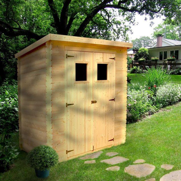Abri A Buches Et Range Buches Exterieur Outdoor Outdoor Structures Shed