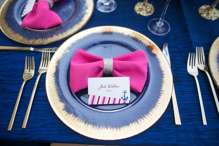 Kate Spade meets Nautial Theme Wedding Style Shoot with Pink, Gold, Navy.