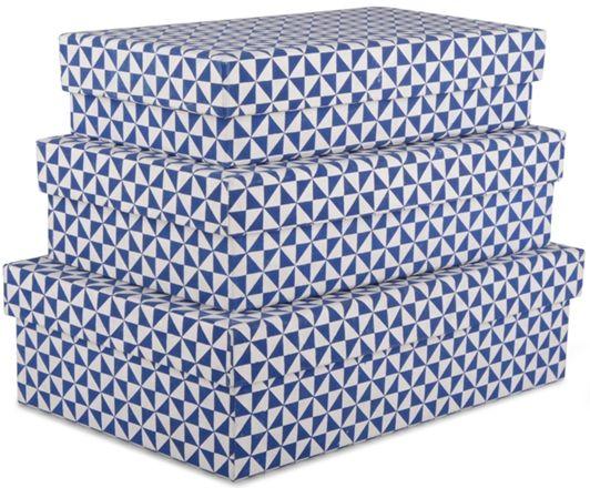 FORM Living Förvaringsbox 3-p, Blå