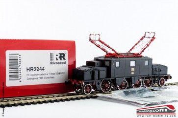RIVAROSSI HR2244 - H0 1:87 - Locomotiva elettrica trifase E 431 033 costruzione TIBB Livrea Nera