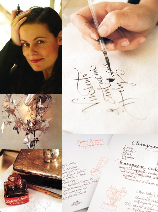 calligrapher Betty Soldi