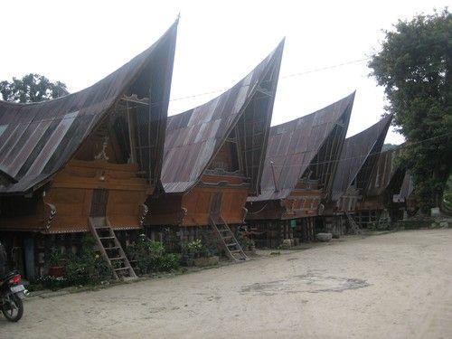 Batak #house community on Ambarita on Samosir Island, Sumatra, Indonesia