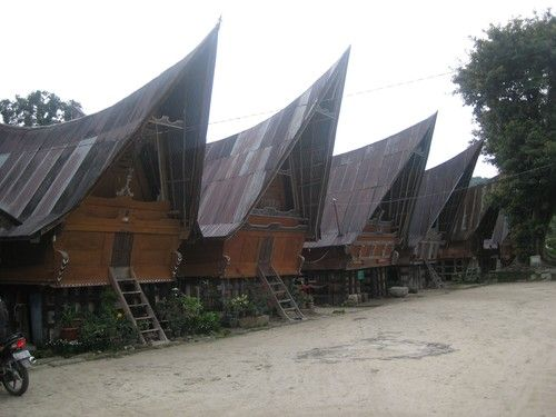 Batak #house community on Ambarita on Samosir Island, Sumatra, Indonesia