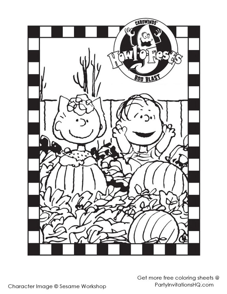 1000 images about sally brown and her sweet baboo on for Charlie brown halloween coloring pages