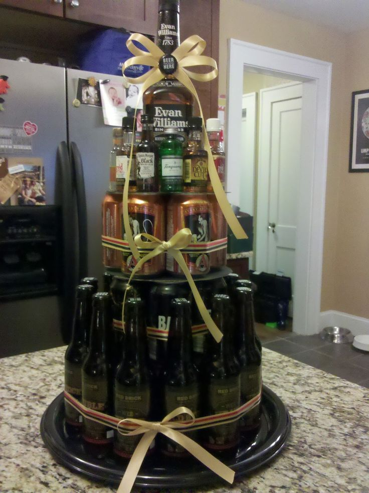 Liquor Bottle Craft Projects | Booze Cake