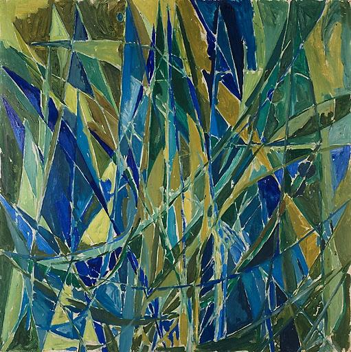 'Grønt og blåt billede' (Green and Blue Image) by Else Alfelt, 1942