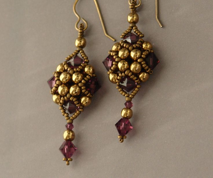 Sidonia's handmade jewelry - Beaded Art Deco Style Earrings