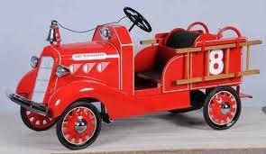 Vintage Pedal Car. Fire-Truck (Restored)