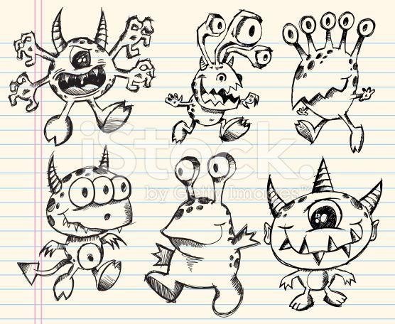 25 best ideas about doodle monster on pinterest cute for Doodle art monster