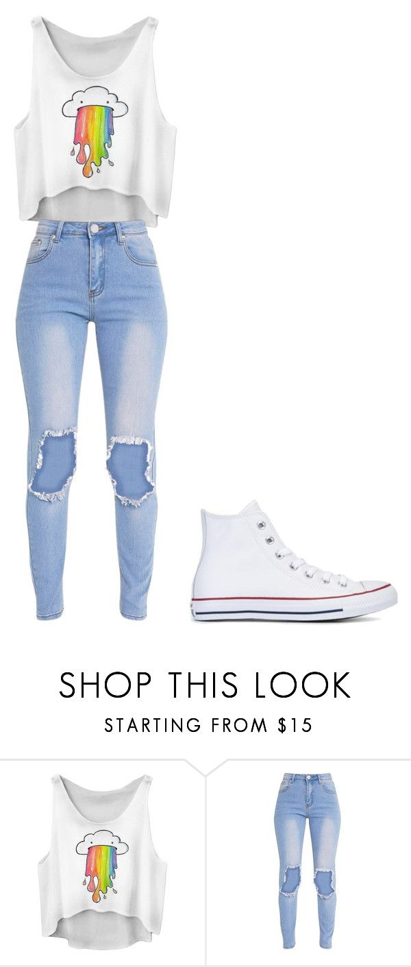 """Untitled #339"" by thenerdyfairy on Polyvore featuring Converse"