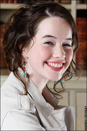 hair, earrings, makeup // Anna Popplewell