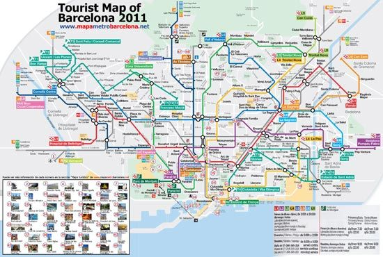 mapa turistico de barcelona