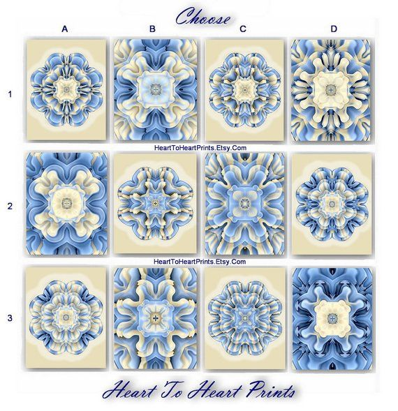 Beige Blue Wall Art Sky Blue Floral Wall Art Print Light Blue Floral Wall Art Blue Wall Art Floral Prints Art