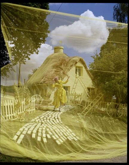 Tim Walker: Yellow Cottages, Karliekloss, Walker Photography, Tim Walker, Karlie Kloss, W Magazines, Fashion Photography, Carboxylic Block, Lemon Drop