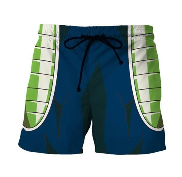 Bardock Armor Saiyan Warrior Green Cosplay Swimming Trunks