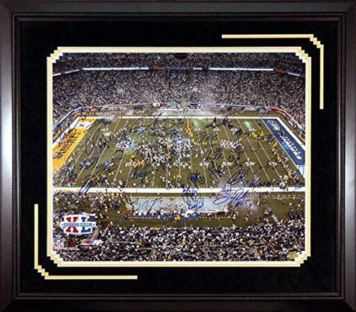 Mounted Memories Pittsburgh Steelers Super Bowl XL Mulit Signature 20x24 Photo  https://allstarsportsfan.com/product/mounted-memories-pittsburgh-steelers-super-bowl-xl-mulit-signature-20x24-photo/  Limited edition 20″ x 24″ color photo from Super Bowl XL Guaranteed to have no less than 25 signatures including: Jerome Bettis, Willie Parker, Troy Polamalu, Joey Porter, Antwaan Randle El, Ben Roethlisberger and Hines WardIncludes a tamper-evident hologram from Mounte