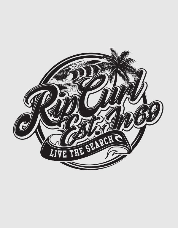 Rip Curl Lockups by Ross Dickson, via Behance