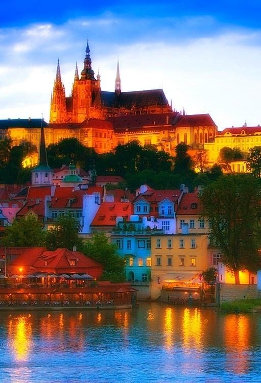Pražský hrad Castle, Prague, Czech Republic; beautiful colors!
