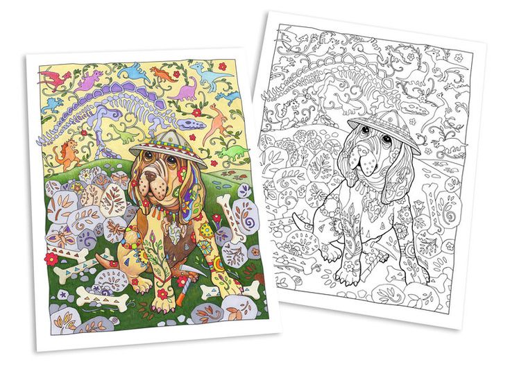 777 best Coloring Cats n Dogs images on Pinterest | Coloring books ...