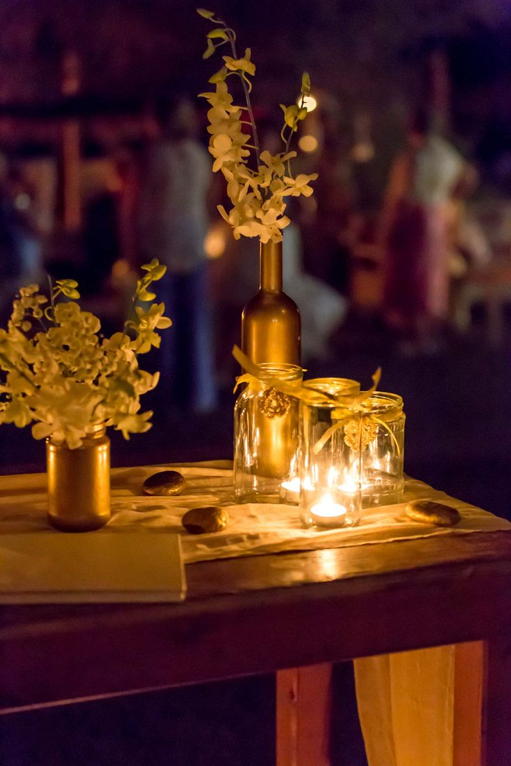 Wish table details.Gold theme.