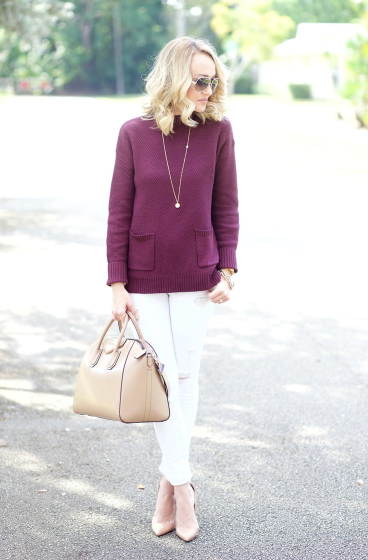 A Spoonful of Style: Burgundy and White...