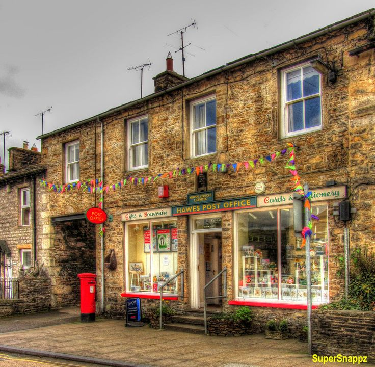 Hawes Post Office, Hawes, Wensleydale. North Yorkshire England