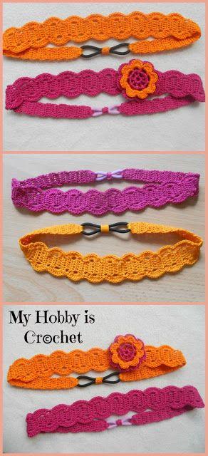 I love this headband - it looks so comfortable!!  Thread headband- free pattern and tutorial My Hobby Is Crochet