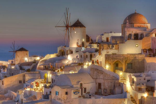 GREECE CHANNEL | #Santorini, #Greece! This beautiful photo was taken at twilight by Richard Mearns. http://www.greece-channel.com/