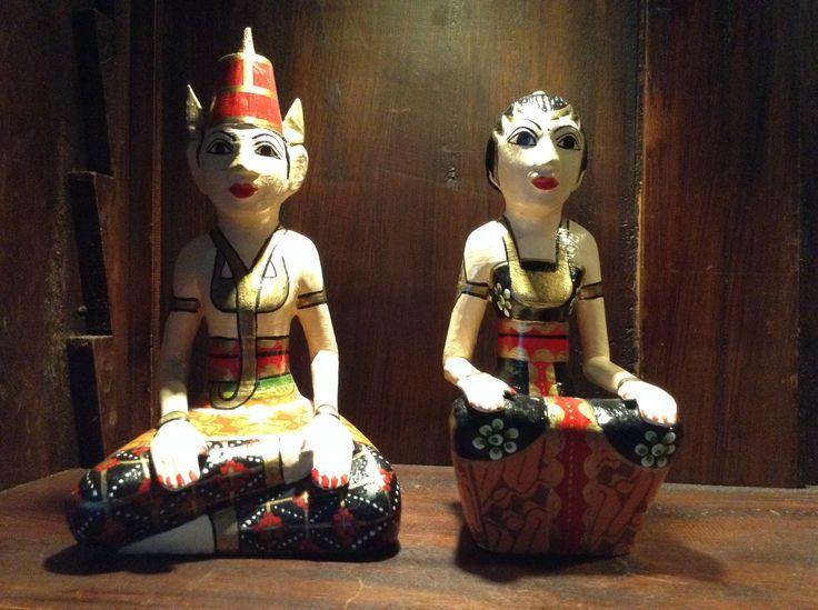 Loro Blonyo - wedding couples figurines. Javanese Indonesian art