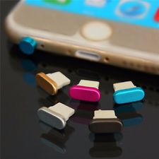 New 4in1 Metal Anti Dust Plug Cap Keeper for Apple iPhone 6 6S Plus 5SE 5S Pad