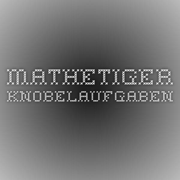 Mathetiger Knobelaufgaben