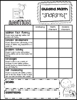 Sarah's First Grade Snippets: Guided Reading Assessment.  Send home to parents (with progress report)